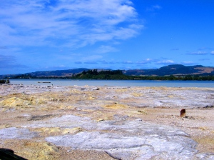 On the shores of Lake Rotorua