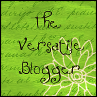 The Versatile Blogger Award Certificate
