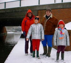 My family in Retford, the year before we moved to New Zealand