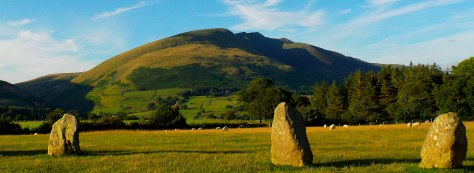 Castlerigg, a stone circle that's about 5000 years old in the Lake District