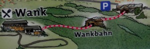 Germany: the only country in the world where you can take the Wank train to the top of Mount Wank.