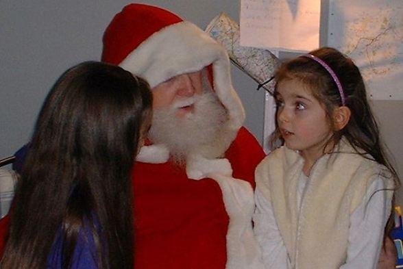 Little Girls on Santa's Lap