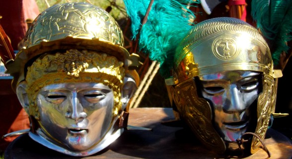 Roman Helmets, Tauranga Medieval Faire, New Zealand