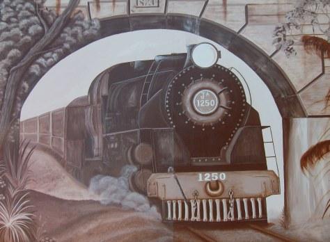 Waiuku Train Mural