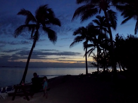 Sunset on a Pacific Island Beach, Rarotonga