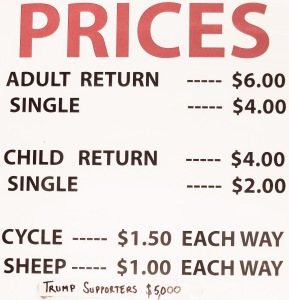 Whitianga Ferry Landing Ferry Prices