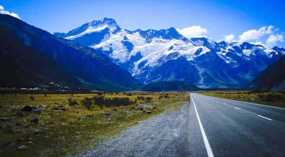 A Road in the South Island of New Zealand
