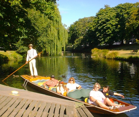 Punting on the Avon River, Christchurch