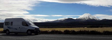 Campervan in Tongariro National Park