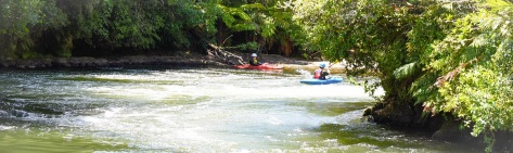 Kayakers at Okere Falls